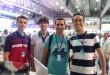 Os universitários John Elton,  Rodrigo, Vinicius Carvalho e Gabriel Rodrigues na Campus Party