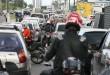 Paralisação dos motoristas provocou engarrafamento Fotos:  Jorge Henrique