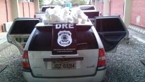 A cocaína estava dentro deste veículo