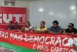 Coletiva hoje pela manhã na sede da CUT Foto: Frente Sergipana