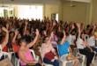 Em assembleia, professores do município decidiram não voltar às aulas Foto: Secom/Sindipema