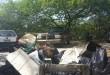 Muito lixo foi retirado do mangue