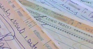 Cheques compensados em Sergipe somam R$ 332,6 milhões