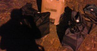 A maconha estava dentro destas sacolas e iria para Propriá Foto: PF