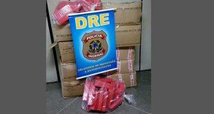 A droga estava escondida num compartimento de madeira no assoalho da carroceria-baú do caminhão Foto: Polícia Federal