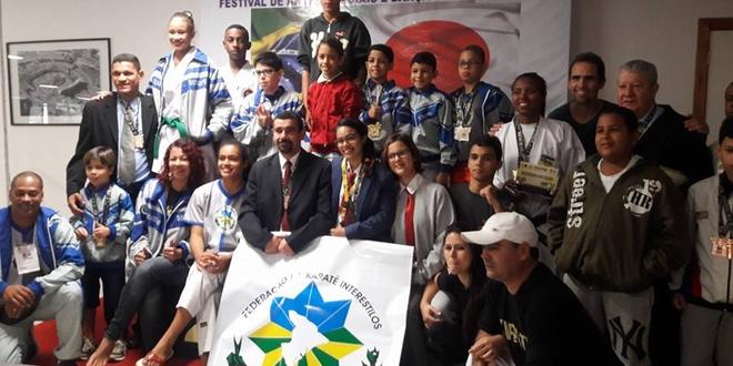 A delegação sergipana foi  campeã de karatê