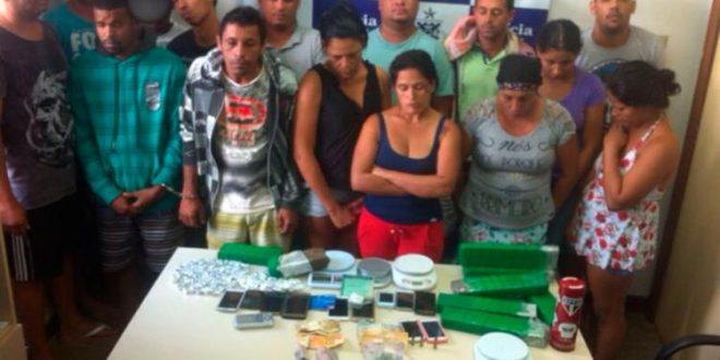 Os presos na  operação de hoje Foto: SSP/BA