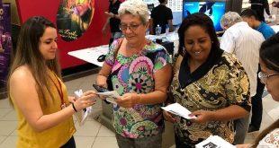 Servidores do Procon Estadual fazem panfletagem nos shoppings de Aracaju Foto: Ascom Sejuc