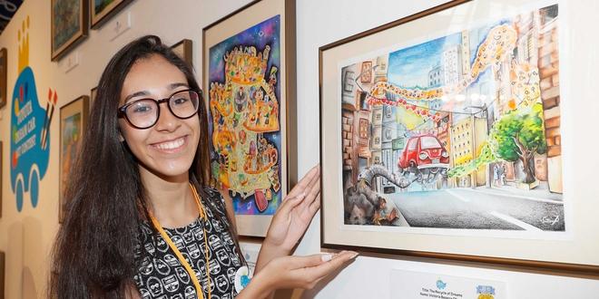 A jovem Victória Bezerra de Oliveira foi a vencedora do concurso em 2016, no Japão