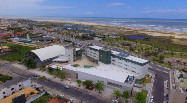 Vista aérea do hotel do Sesc Foto: Alisson Alcântara