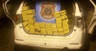 A cocaína estava num fundo falso de uma camioneta de luxo Foto: Polícia Federal