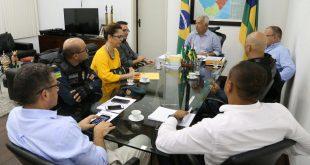 Jackson Barreto reúne cúpula da SSP para traçar estratégias para segurança Foto: Jorge Henrique