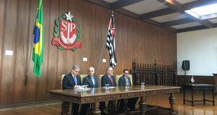 Belivaldo assina convênio com governo paulista na área de segurança