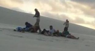 Turistas vivem momentos de terror na Praia do Saco