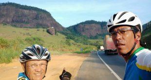 Ciclistas falam das ladeiras e  da falta de acostamento na Bahia