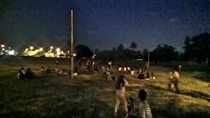 Muita gente foi a Sementeira ver o eclipse