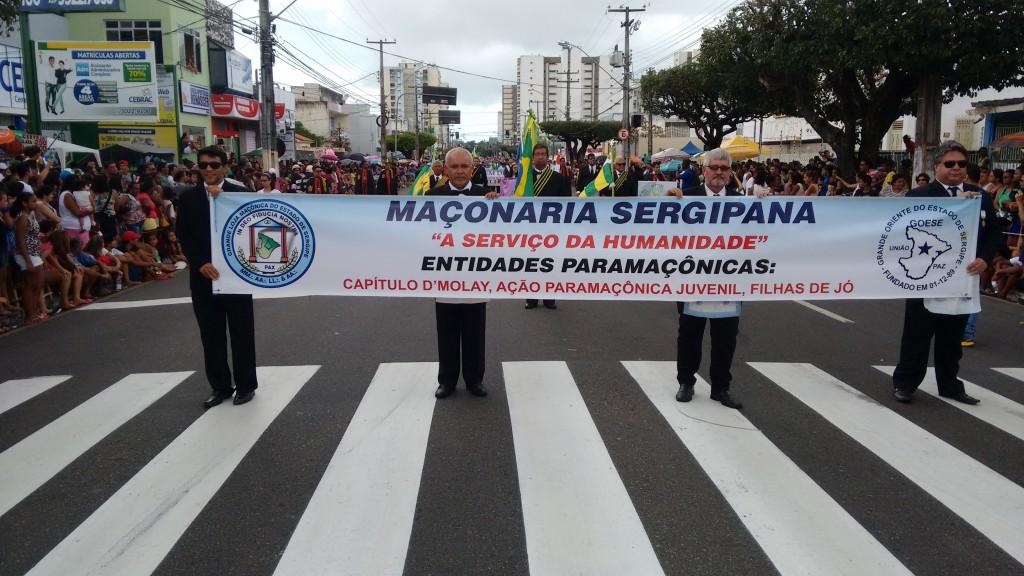 Maçons sergipanos desfilam no 7 de setembro