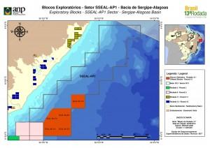 Os blocos da bacia de Alagoas