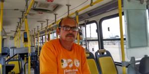 O motorista José Onias teme os arrastões