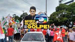 Cartaz contra Sérgio Moro