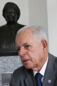 O acadêmico José Anderson Nascimento, presidente da ASL