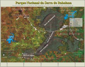 Mapa da Serra de Itabaiana