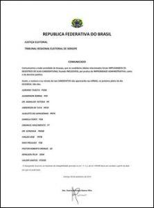A lista falsa atribuída ao TRE-SE