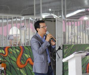 Secretário Cristiano Barreto durante lançamento do Projeto Odara