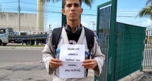 Atleta de jiu-jitsu veste quimono e pede ajuda de R$  0,50 para ir ao campeonato internacional
