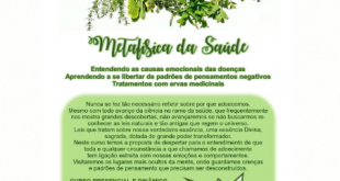 Aracaju vai sediar, pela primeira vez,  curso de Metafísica da Saúde