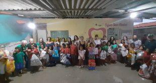 Aposentados  da Caixa promovem Natal Solidário em comunidade carente