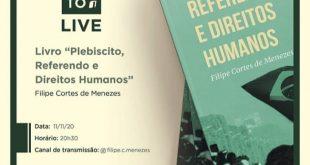 Pesquisador lançará livro sobre plebiscito, referendo e direitos humanos