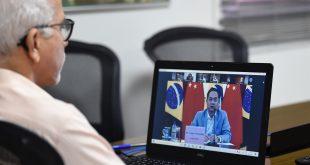 Edvaldo participa de reunião com o embaixador da China para apoio em compra de vacinas contra a covid-19