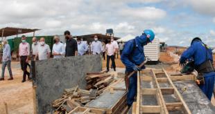 Moinho do Grupo Maratá vai gerar 100 empregos diretos em São Cristóvão; governador visitou a obra hoje