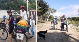 Pelo mundo de bicicleta; o bem viver de um casal venezuelano