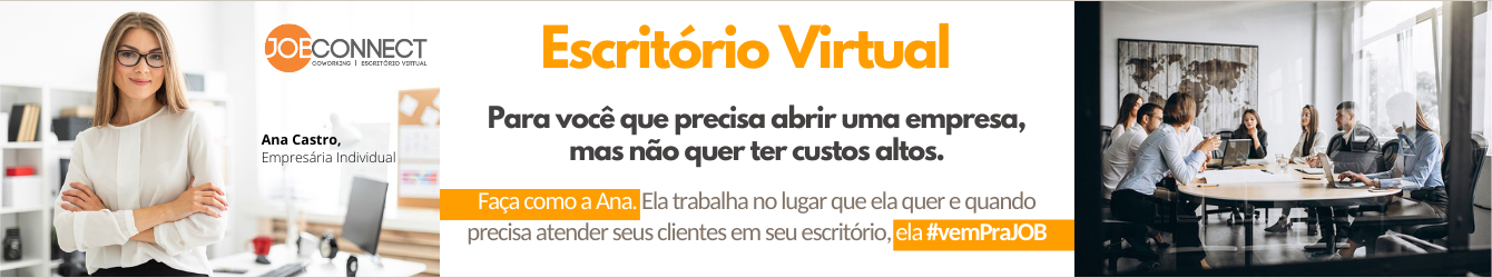 Escritório Virtual é na JOB Connect - ligue 79 99198-0651